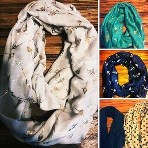 5 scarfs very cute 😍